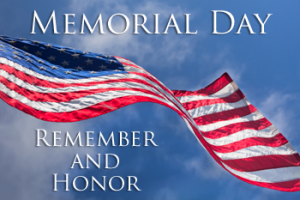 CLOSED - Memorial Day